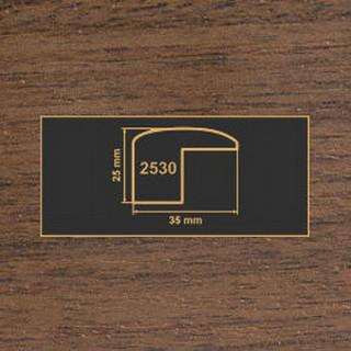 2530 орех темный накладка угол  МДФ 2800