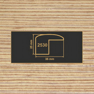 2530 фино-бронза накладка угол  МДФ 2800