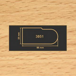 3051 бук накладка МДФ 2800