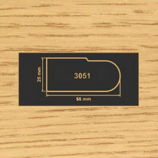 3051 дуб накладка МДФ 2800