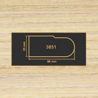 3051 зебрано песочный накладка МДФ 2800