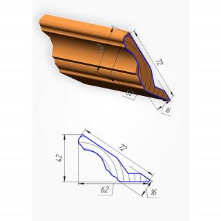 Мебельный карниз №4, 2070 х 120 мм