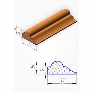 Штапик для фасадов МДФ, №1, 2070 х 35 мм