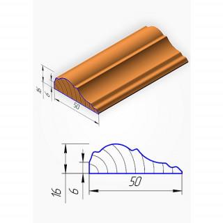 Штапик для фасадов МДФ, №2, 2070 х 50 мм
