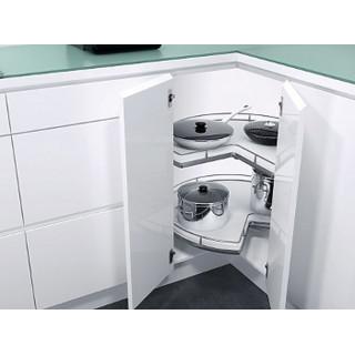 Угловой шкаф Recorner Maxx, 900, 3/4, белый, хром (ТОЛЬКО ПОД ЗАКАЗ)