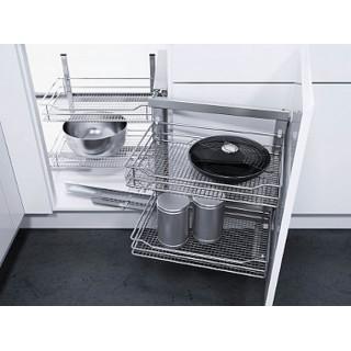 Угловой шкаф WACO-2, К900, правый, сапфир, хром (ТОЛЬКО ПОД ЗАКАЗ)