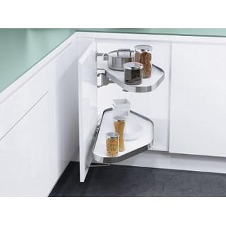 Угловой шкаф CORNERSTONE, K450, правый, белый хром (ТОЛЬКО ПОД ЗАКАЗ)