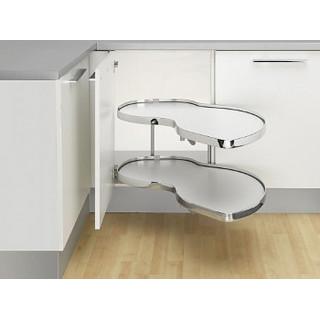 Угловой шкаф Twin Basic, К500, левый, белый хром (ТОЛЬКО ПОД ЗАКАЗ)