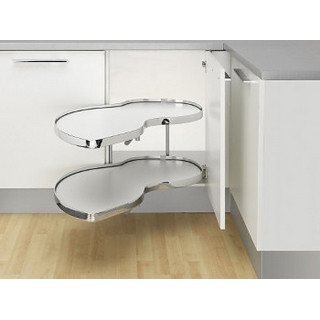 Угловой шкаф Twin Basic, К500, правый, белый хром (ТОЛЬКО ПОД ЗАКАЗ)