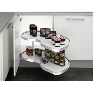 Угловой шкаф Twin Basic, 600, левый, белый хром (ТОЛЬКО ПОД ЗАКАЗ)
