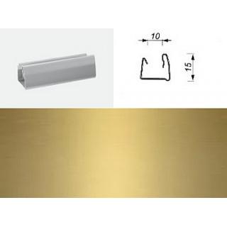 Профиль гориз. 10-0410 Золото матовое 10мм 1800мм, ЦЕНА УКАЗАНА ЗА ШТ.