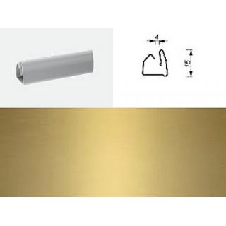 Профиль гориз. 10-0440 Золото матовое 4мм 1800мм, ЦЕНА УКАЗАНА ЗА ШТ.