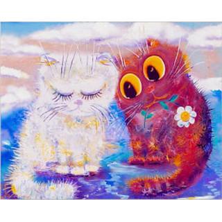Картина Кошачья нежность( 290x195) Холст