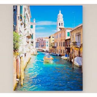 Картина Венеция Голубой канал (390х600) Холст
