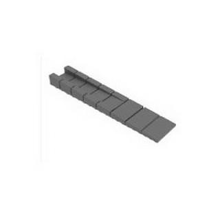 MESAN, Клин монтажный пластиковый 100 x 20 мм, Черный