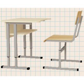 Стол МТ1 ученический регулируемый по высоте, прямой, 1-местный.