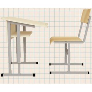 Стол МТ2 ученический, 1-местный, регулируемый по высоте, угол наклона крышки стола - 8 градусов.