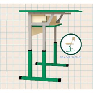 Стол МТ6 ученический, антисколиозный, регулируемый по высоте и углу наклона крышки стола.