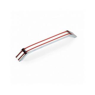 Ручка 192 мм BILAKS STEP 27 COLOR Хром-Красная 3076-065-0192 ПОД ЗАКАЗ