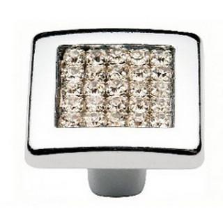 Ручка мебельная MADRID DUGME с камнями Хром 6065-06 ПОД ЗАКАЗ