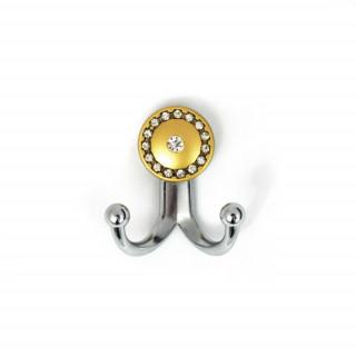 Крючок маленький с камнями хром-матовое золото TASLI BONCUK 13.147-06/04