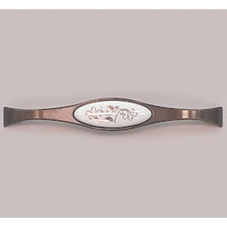 Ручка керамика 160 мм BILAKS REYHAN Бронза-Зол лист 6008-FS-160-502 ПОД ЗАКАЗ