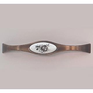 Ручка керамика 128 мм BILAKS REYHAN Бронза-Сер цветок 6008-FS-128-007 ПОД ЗАКАЗ