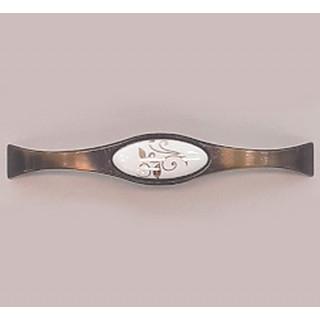 Ручка керамика 128 мм BILAKS REYHAN Бронза-Зол лист 6008-FS-128-502 ПОД ЗАКАЗ