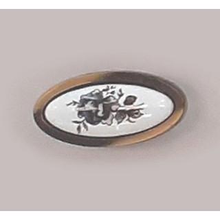 Ручка керамика BILAKS MANOLYA Бронза-Сер цветок 7003-FS-007 ПОД ЗАКАЗ