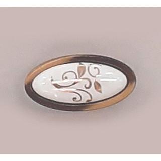 Ручка керамика  BILAKS MANOLYA Бронза-Зол лист 7003-FS-502 ПОД ЗАКАЗ