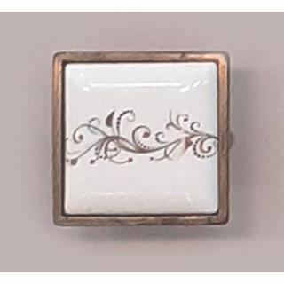 Ручка-керамика 32 мм Бронза-Лоза 5352-08/41 ПОД ЗАКАЗ