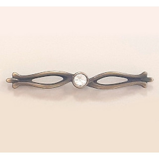Ручка с камнями 128 мм SAHRA Бронза 5448-08 ПОД ЗАКАЗ