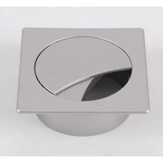 РП Заглушка для провода 74х74 цвет алюминий ПОД ЗАКАЗ
