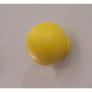 Ручка кнопка пластик  желтый  411.001/1