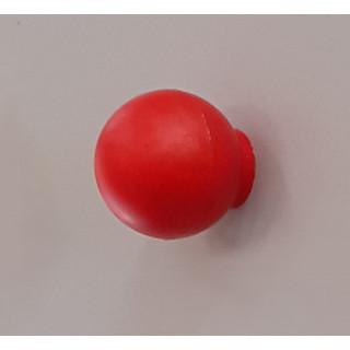 Ручка кнопка пластик красная 412.001