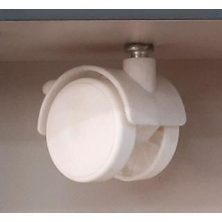 Ролик D=40 мм белый со штифтом (2 шт + 2 шт с тормозом) ПОД ЗАКАЗ