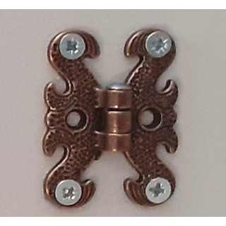 Петля декоративная малая, медь + патина