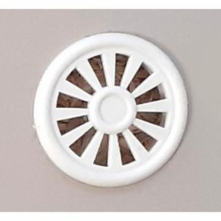 Заглушка вентиляционная D40 мм, цвет Белый