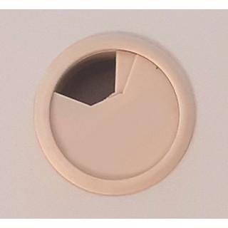 Заглушка компьютерная (проход) для проводов клен