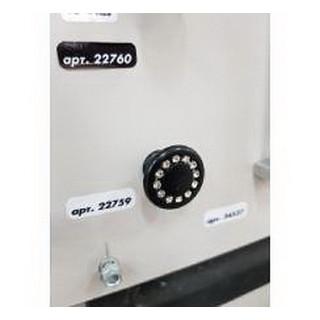 Ручка Duz dugme кнопка с камн черн 6058-012