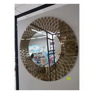 Зеркало 700*700 бронза + бц круглое