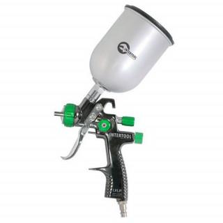 Краскопульт пневматический LVLP GREEN профессиональный, INTERTOOL PT-0131