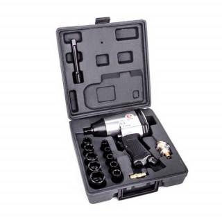 Гайковерт пневматический в чемодане+набор головок, 17 ед. PT-1101