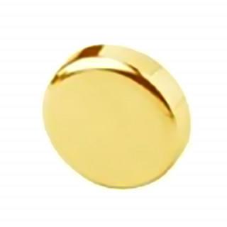 Заглушка на чашку петли для стеклянной двери, круглая ЗОЛОТО 84.4140