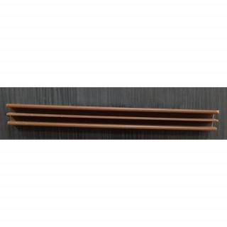 Ш-образный профиль высокий 2,5м коричневый №31