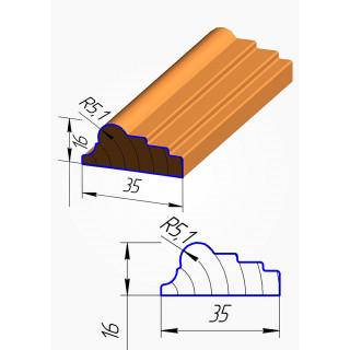 Штапик для фасадов №4 МДФ 2070*35 мм