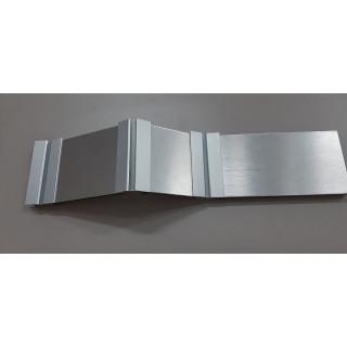 Угол к цоколю универсальный (90-135 гр) алюминий Н100