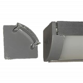 Заглушка к профилю алюминиевому ПУ17А угловому