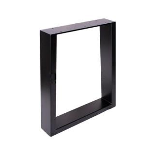 Табурет прямоугольный (H400 мм W350 мм) черный ДС
