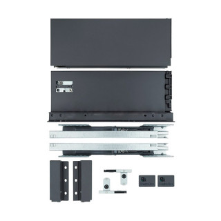 Тандембокс 550 мм Н118 мм (графит) Slim ДС (ПОД ЗАКАЗ)